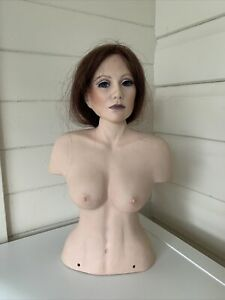 Porcelain Lady Bust Sculpture signed  37cm high
