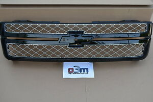 2012 2013 Chevrolet Silverado 2500 3500 Black Front Grille without Emblem new OE