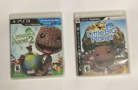 LITTLE BIG PLANET 1 & 2 Playstation 3 PS3 console game LOT BUNDLE COMPLETE EX!