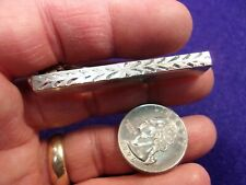 EXTREMELY UNUSUAL & FANCIER VTG MENS STERLING SILVER TIE CLIP (TRIANGULAR SHAPE)