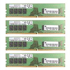 4x For Samsung 16GB 2Rx8 PC4-2666V 21300 DDR4 2666MHz Desktop RAM Memory DIMM @B