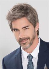 100% Echthaar Mode Natürliche Herren Temperament Kurz Glatt Beliebt Perücken wig