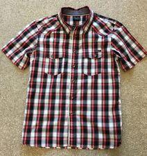 Splendido Oakley Manica Corta Rosso/Nero Check camicia S piccolo costo £ 70