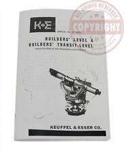K Amp E Keuffel Amp Esser Users Manual For Transit Level Surveying Operators77