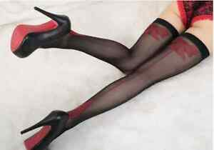 LOVE SEXY TEMPTATION WARDROBE Red Hot Back Line Bowknot Fascinated Stockings