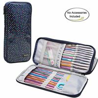Teamoy Tunisian Crochet Hook Case(up to 11'' long), Storage Bag for Afghan Croch