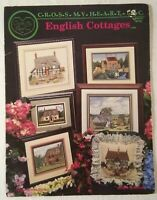 ENGLISH COTTAGES ~ 6 Designs Counted Cross Stitch Chart Cross My Heart #CSB-59