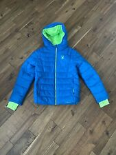 Spyder winter down hooded puffer coat jacket size M(10/12) Boys