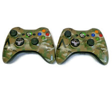 Xbox 360 Halo 4 Special Edition Controller Camo Camouflage Set of 2 Working