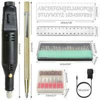 54Pcs Electric Engraving Engraver Pen Carve Tool For DIY Jewellery Jewelry Kit