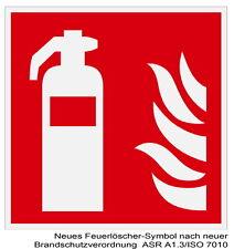 Feuerlöscher-Brandmelde-Schild-Leuchtend-Feuer-Brand-Warnschild-Hinweisschild