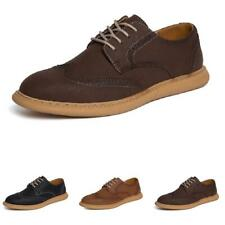 Mens Brogue Business Faux Leather Shoes Wing Tip Carved Lace up Oxfords Party D