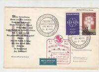 France 1960 Airmail to Hamburg Abbeville Cancels & Slogan Stamps Cover Ref 29810