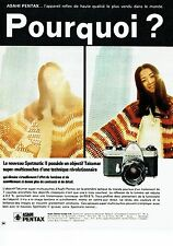 Publicité Advertising 067  1971  Asahi Pentax  appareil photo Spotmatic II takum