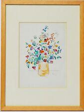 Aquarell Nini Consolaro Stillleben Blumen 1976 Sammlung Karl Schott 37 x 28 cm