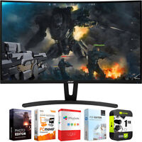 """Acer 27"""" Curved Full HD 1920x1080 Gaming Monitor with Warranty Bundle"""