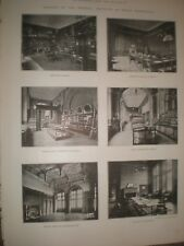 Printed photos new Imperial Institute London library galleries rooms 1893 ref AT