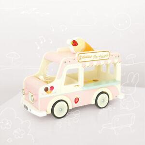 NEW Le Toy Van Vintage Dolly Ice Cream Van Wooden Wood Toy Vehicle