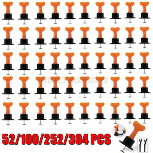 52/100/252Pcs Tile Leveling Positioning System Leveler T-lock Floor Tools Set