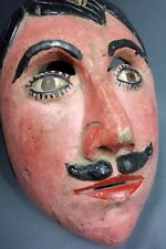 Hand carved Vintage Ceremonial Dance Mask from Guatemala