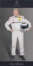 Mika Hakkinen Signed Mercedes-Benz DTM Promo Card 2.