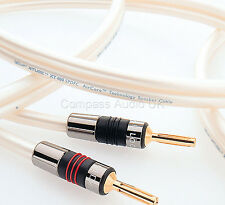 2 x 1.5m QED X-TUBE XT400 Silver OFC Speaker Cable AIRLOC Forte Plugs Terminated
