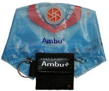 BLACK Ambu Res-Cue Key MINI CPR Keychain Mask / Face Shield Barrier Kit