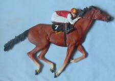 More details for bossons fraser art very rare racehorse & jockey wall plaque