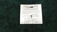 AMERICAN FLYER # M2758 WHISTLING LOCOMOTIVE & TENDER INSTRUCTIONS PHOTOCOPY