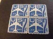 US Airmail Postage Stamp 1958 Jet Airliner Scott C#51a 4-5c
