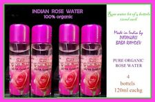 4x120ml PURE ORGANIC ROSE WATER PATANJALI RAMDEV INDIA   WHOLE SALE PRICE LOT