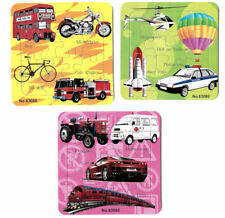 New Kids Childrens Junior Tray Jigsaws Set of 3 Fun Educational Learning Puzzles