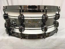 "Tama Starclassic Maple 14"" Snare Drum/Silver Snow Racing Stripe/MAS1455BNSSR/NEW"