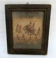 Antique Old Rare Artist Hand Painted Indian Mughal King Miniature Fine Painting