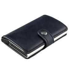 Card Holder RFID Automatic Pop-Up Compartment Wallet Slim Business Credit Black