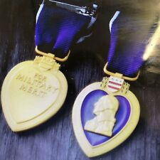 PURPLE EART MEDAL Ww2 Quality Repro With Ribbon