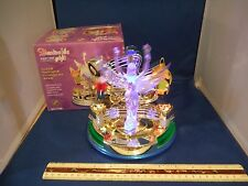 New Happy Time Gift Light Show Moving See-Saw & Spinning Angel Music Box NIB