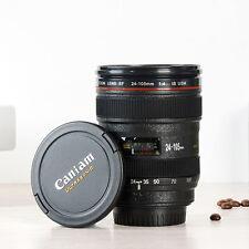 400ml Camera Cup Lens Black Mug Coffee Tea Thermos Plastic Lid 24-105 Gift Mugs