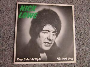 "NICK LOWE - Keep It Outta Sight 7"" single vinyl 45 pub rock Wilko Johnson"