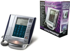 LCD Touch Panel Caller ID Phone With Calendar/Calculator Dual Line Input Jacks