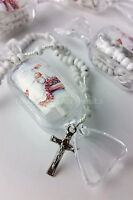 Baptism Party Favors Cross Rosary Keepsake Recuerdos Bautizo Roario 12 pc