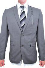 Bar III NEW Light Gray Mens Size 38R Slim Fit Two Button Wool Blazer $425 #089