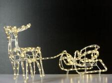 LED Rentier mit Schlitten - 192 LED warmweiß - Innen und Außen - Weihnachtsdeko