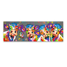 Wall Art Canvas Painting Animal Picture Poster Prints Cow Painting Home Decor