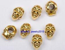 20pcs Tibetan Silver Antique golden bead Skull Beads Fit Bracelet 12mm