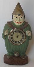 New ListingAntique Lux Figural Clock Clown