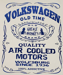 Volkswagen Old Time saying Vintage 80/'s t-shirt S-XL NOS 0575