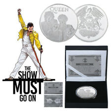 WR Freddie Mercury Queen Rock & Pop Silver Coin In Box Music Fans Gift
