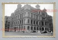 JACKSON ROAD SUPREME COURT BUILDING CAR  VINTAGE B&W HONG KONG Photo 18376 香港旧照片