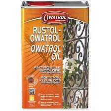RUSTOL OWATROL 1 Litre DIRECT ROUILLE INCOLORE   STOPPE LA ROUILLE